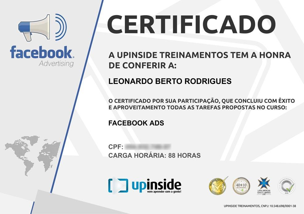 Certificado de Facebook Ads