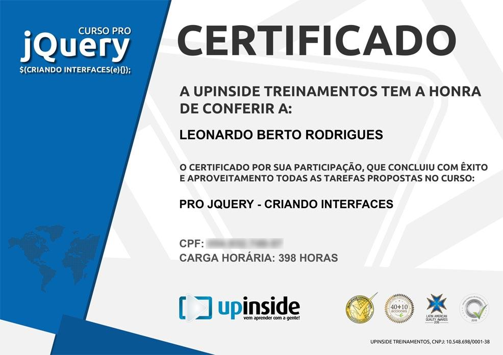 Certificado de PRO jQuery - Criando Interfaces